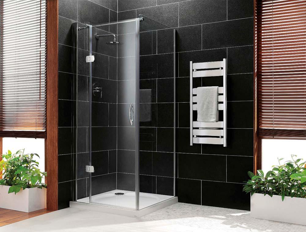 Shower Door Spacers : Claygate rameless hinged door spacers showrooms