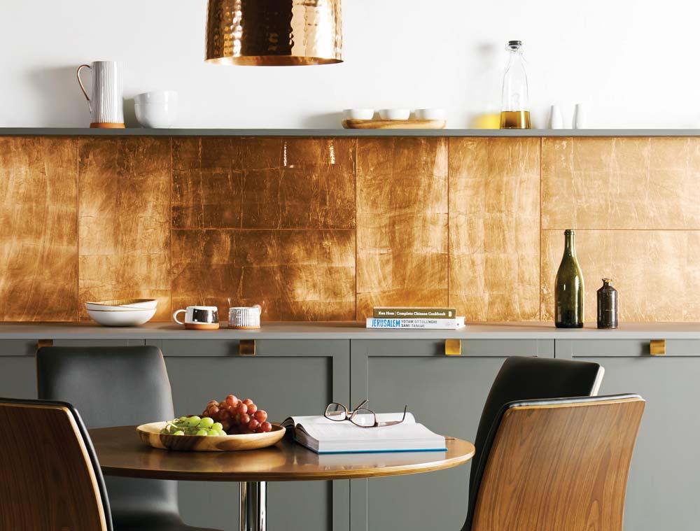 Original Style Glassworks Copper Leaf Glass