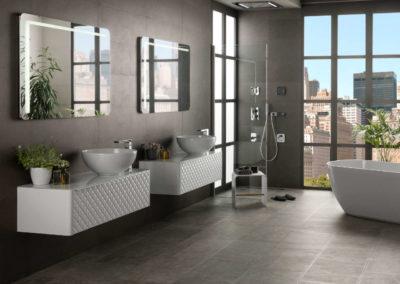 Porcelanosa Noken mobiliario bano Lounge Capitone