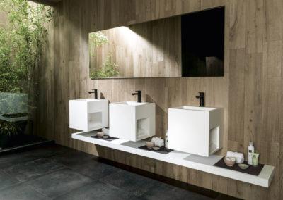 Porcelanosa Systempool lavabo KRION ras lavabo