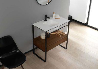Porcelanosa Systempool mobiliario bano modul wood
