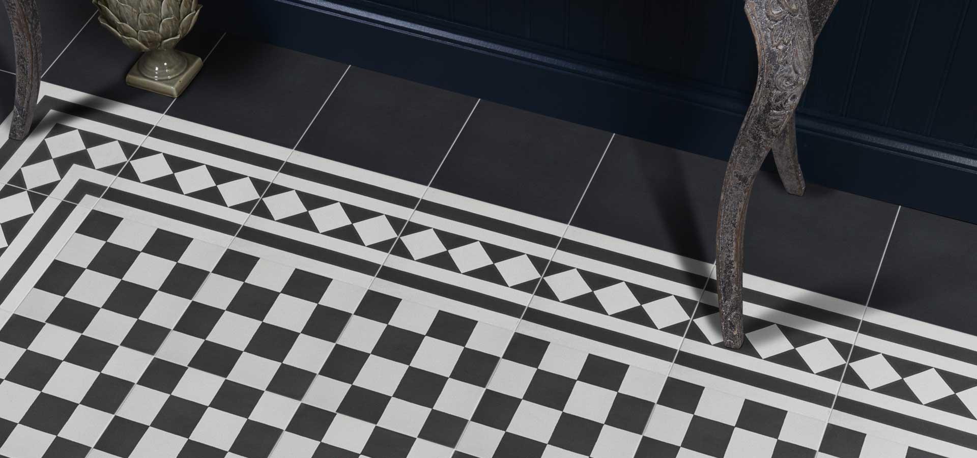 TIles Ca Pietra Encaustic Chequer Floor