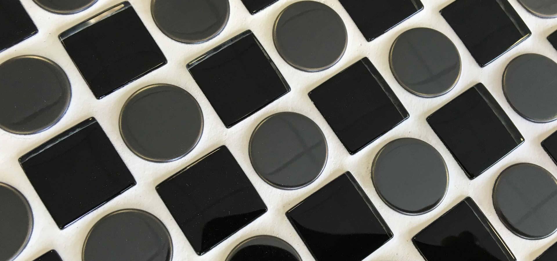 Tiles Checkers Black